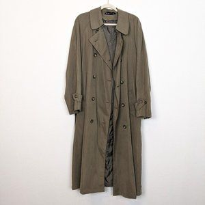 Ralph Lauren Olive Double Breasted Trench Coat
